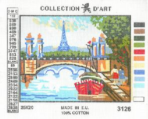 Collection D'Art  Tapestry Canvas 20X25 Eifel Tower