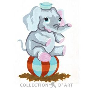 Collection D'Art  Tapestry Canvas 20X25 Elephant/Ball