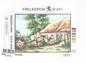 Collection D'Art  Tapestry Canvas 20X25 Cottage Garden