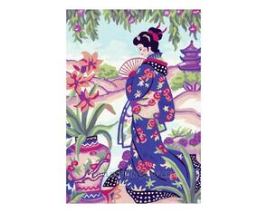 Collection D'Art  Tapestry Canvas 30X40 Japanese Lady