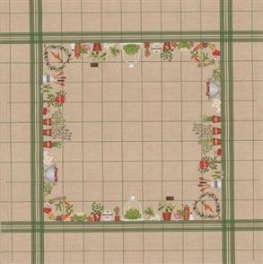Le Bonheur Des Dames  Tablecloth Vegetables - Cross Stitch Kit