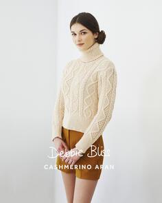 Debbie Bliss Cashmerino Aran - Classic Cable Sweater