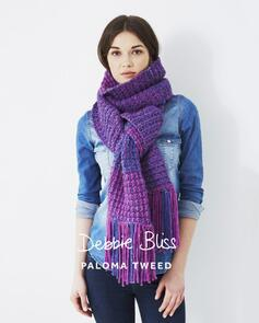 Debbie Bliss Pattern - Paloma Tweed Two Colour Scarf