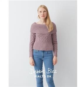 Debbie Bliss  Pattern - Deep Rib Collar Sweater