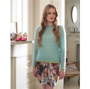 Debbie Bliss  Pattern - Angel Contrast Edged Sweater