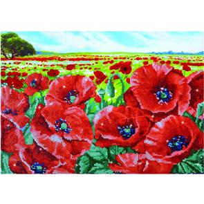"Diamond Dotz Art Kit 23.6"" x 16.5"" - Red Poppy Field"
