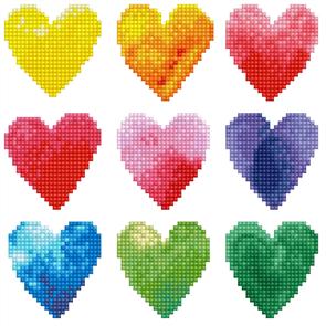 "Diamond Dotz  Art Kit - Love Rainbow 9.1 x 9.1"""