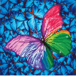 """Diamond Dotz Art Kit - Flutter By Pink 12 x 12"""""""