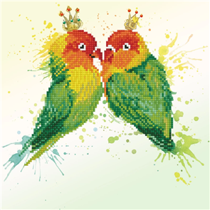 Diamond Dotz  Art Kit - Love Birds 12 x 12""
