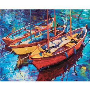 "Diamond Dotz Art Kit - Dream Boats 15 x 18.5"""