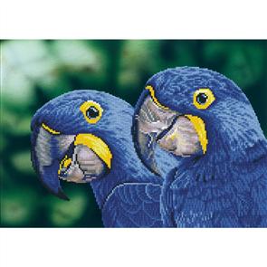 "Diamond Dotz Art Kit - Blue Hyacinth Macaws 14.6 x 20.5"""