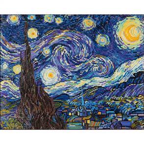 "Diamond Dotz  Art Kit 10.6""X14.6"" - Starry Night (Van Gogh)"