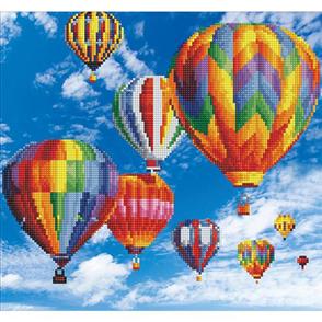 Diamond Dotz Art Kit - Hot Air Balloons 47 x 37cm