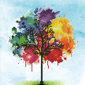 Diamond Dotz  Art Kit - Rainbow Tree