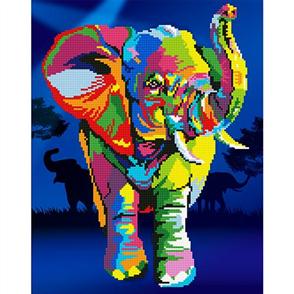 Diamond Dotz Art Kit - Elephant 37 x 47cm