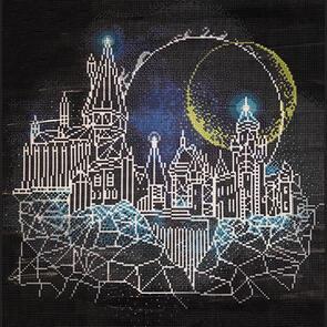 Diamond Dotz Harry Potter Moon Over Hogwarts