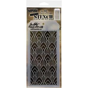 "Stampers Anonymous Tim Holtz Layered Stencil 4.125""X8.5"" - Deco Arch Layered"