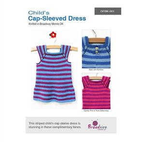 Broadway  Child's Cap-Sleeved Dress Pattern