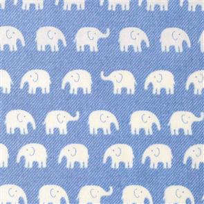 Handworks Fabric  Homey Collection - Elephants Denim