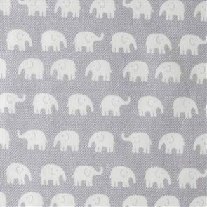Handworks Fabric  Homey Collection - Elephants Grey