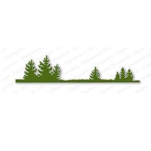 Impression Obsession  Dies - Fir Tree Border