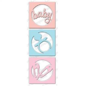 Impression Obsession  Dies - Circle Baby Cutout Set