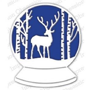 Impression Obsession  Dies - Deer Snowglobe