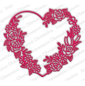 Impression Obsession  Dies - Floral Heart