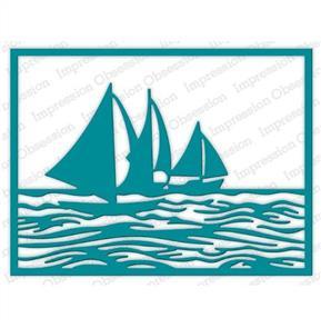 Impression Obsession  Dies - Sailboat Frame