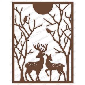Impression Obsession  Die - Spotted Deer Frame