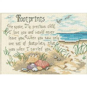 Dimensions  Counted Cross Stitch Kit - He Spoke/ Footprints