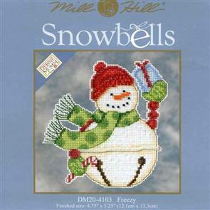 Mill Hill  Bead & Cross Stitch Kit: Snowbells Freezy