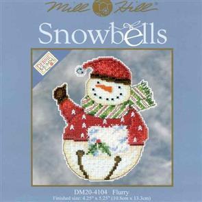 Mill Hill  Bead & Cross Stitch Kit: Snowbells Flurry