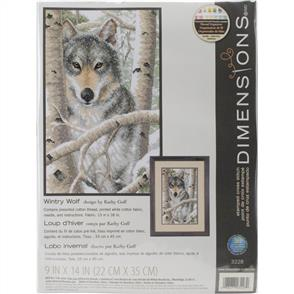 Dimensions  Stamped Cross Stitch Kit - Wintry Wolf