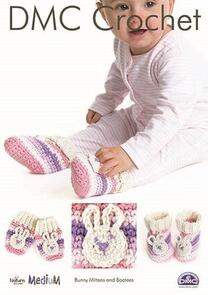 DMC  Bunny Mittens and Bootees Crochet Pattern