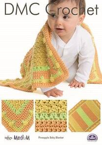 DMC Pineapple Baby Blanket Crochet Pattern
