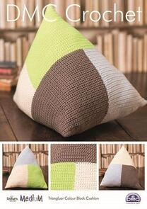 DMC  Natura Medium Triangular Colour Block Cushion Crochet Pattern