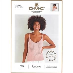 DMC 7148 - Woman's Cami Top - Knitting Pattern