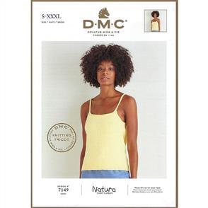 DMC  7149 - Woman's Vest Top - Knitting Pattern