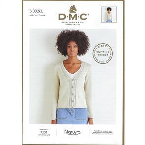DMC  7151 - Cardigan - Knitting Pattern