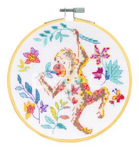 DMC Cross Stitch Kit - The Monkey