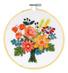 DMC Cross Stitch Kit - Autumn Bouquet