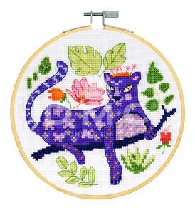 DMC Cross Stitch Kit - Beautiful Panther