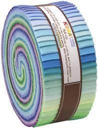 Robert Kaufman  Kona Cotton Solids, Roll-Ups: Sunset Coloursory