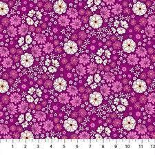 Figo Fabrics - Primavera by Pippa Shaw - Scattred Flora - 90317-80 - Magenta