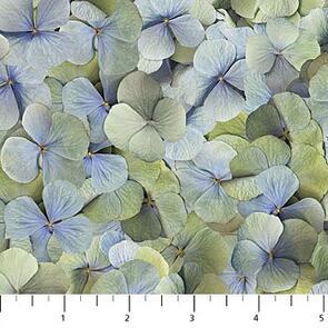 Northcott  Harlow - Petals Blue