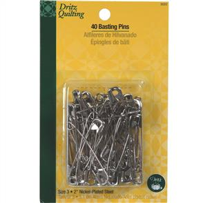 Dritz  Quilting - Nickle Plated Basting Pins Size 3