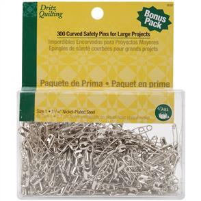 Dritz Quilting Curved Basting Pins Bonus Pack 300/Pkg - Size 1