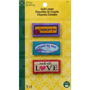 Dritz Quilting Sew-In Embroidered Labels 9/Pkg Assorted