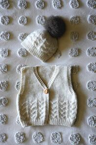 Lisa F Baby Cakes BC107 Piper Vest and Hat Knitting Pattern